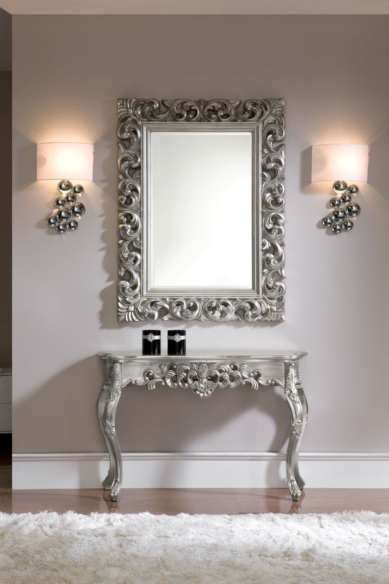 decoraci n miroir baroque rectangle en argent cuisine maison miroir pinterest. Black Bedroom Furniture Sets. Home Design Ideas