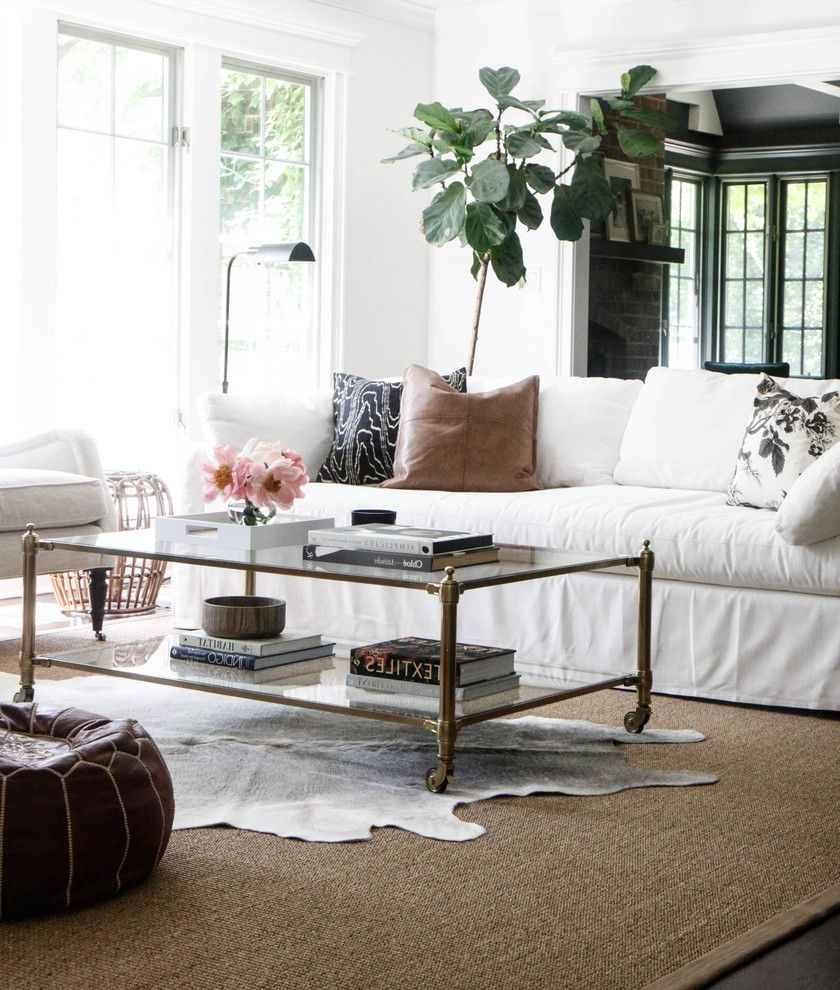 Restoration Hardware Rugs with Farmhouse Living Room and Cowhide Rug ...