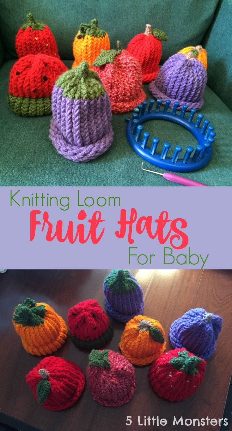 Fruit Hats On A Knitting Loom Craftaholics Anonymous Creative