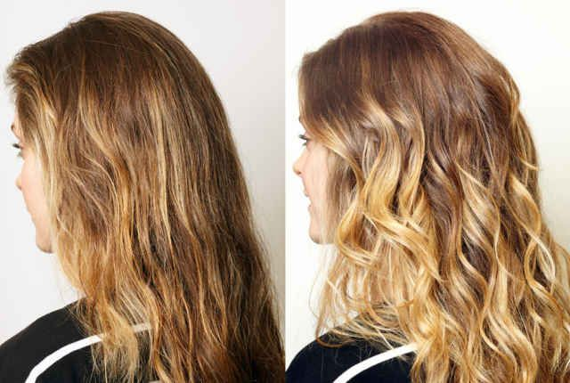 Diy Balayage Results Diana Tried Our Diy Baby Ombre Technique