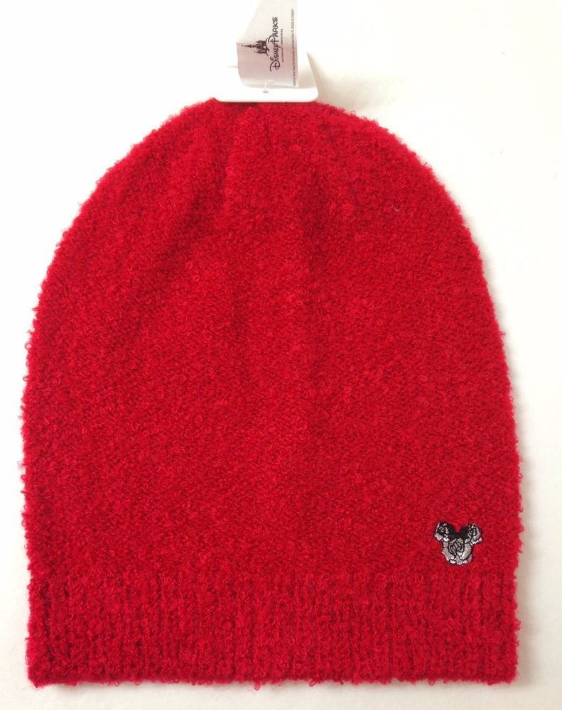 15bf044c168 new 25 Womens DISNEY PARKS MICKEY MOUSE BEANIE Fuzzy Marled Red Winter Knit  Hat  Disney  Beanie  Winter