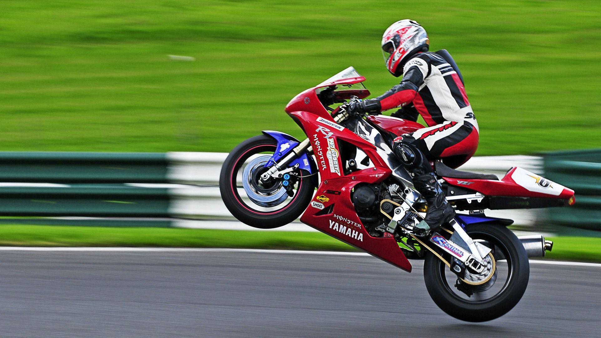 Red Yamaha Motorcycle Racing 1080p Hd Wallpaper Sports Yamaha