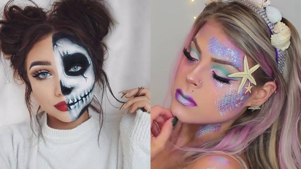 Special Effects Makeup Transformations Dÿ Top 20 Easy Halloween Makeup Tutorial Halloween Makeup Tutorial Easy Special Effects Makeup Halloween Makeup Easy