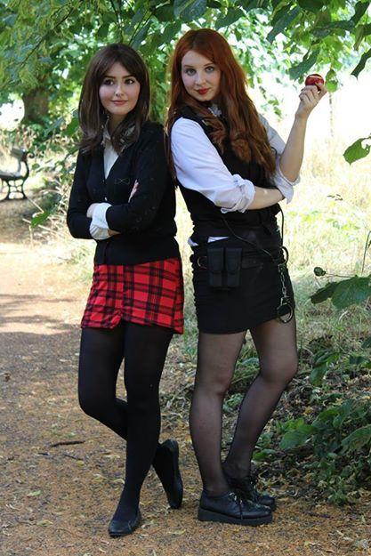 Doctor Who Cosplay - Clara and Amy. Amazing!! Great Clara likeness especially.  sc 1 st  Pinterest & Doctor Who Cosplay - Clara and Amy. Amazing!! Great Clara likeness ...