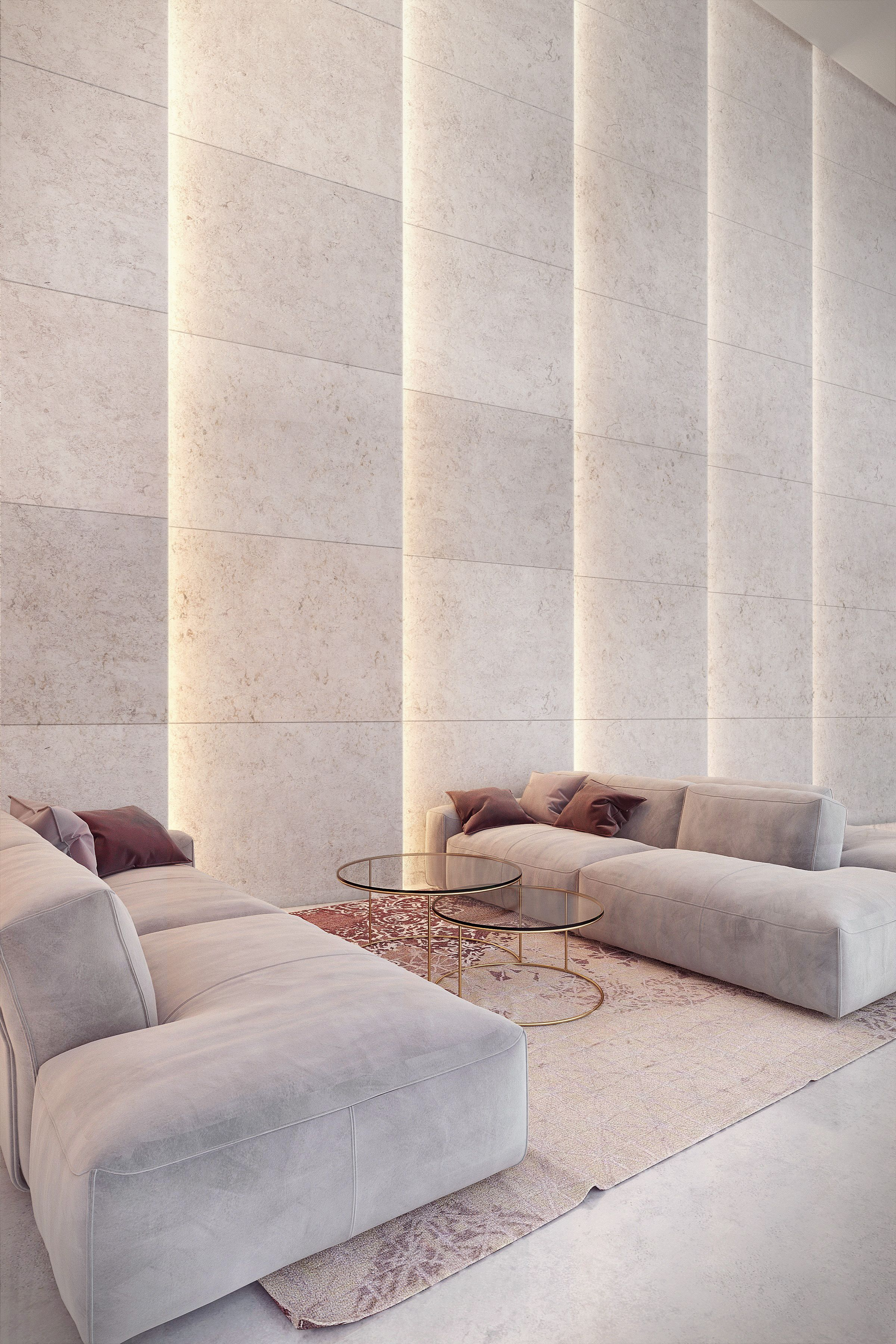 light in architecture travertine wall on behance