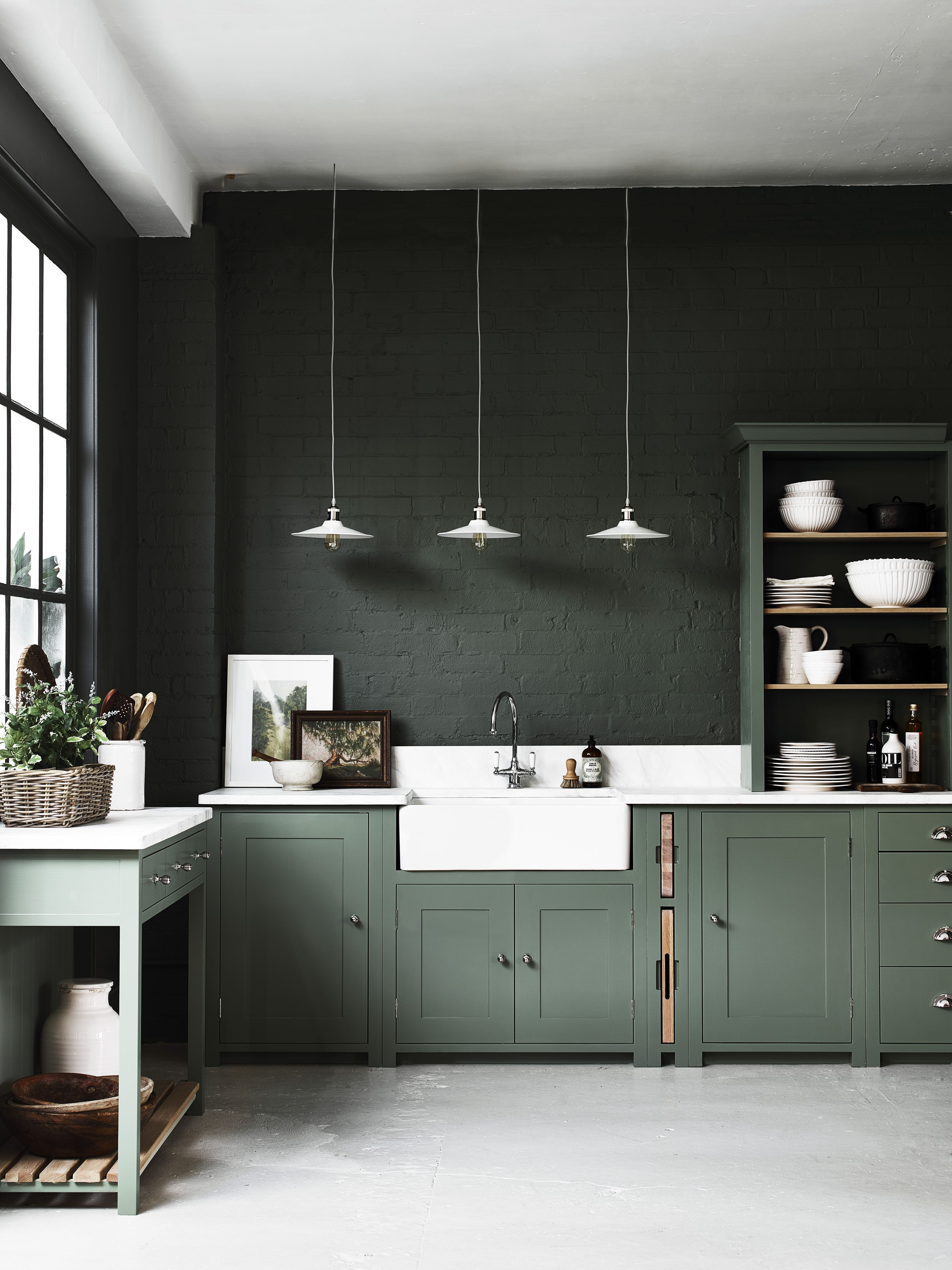 Beadboard Kitchen Cabinets For Sale In 2020 Green Kitchen Cabinets Studio Kitchen Interior Design Kitchen