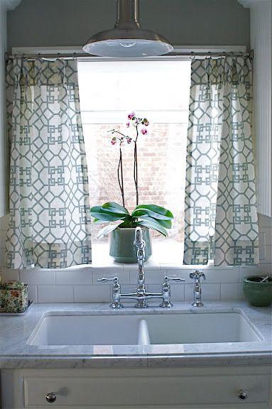 New Apt No Sew Kitchen Window Treatment Get Some Fabric