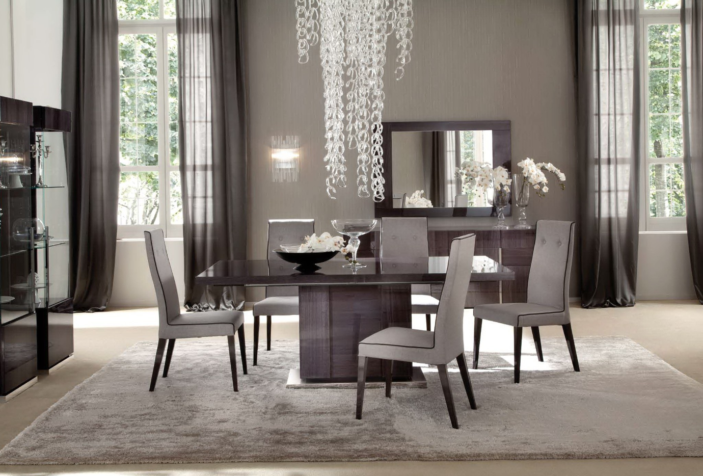 Casual Dining Room Ideas Curtains Home Design Curtain Ruang Makan Mewah Ruang Makan Modern Desain Ruang Makan
