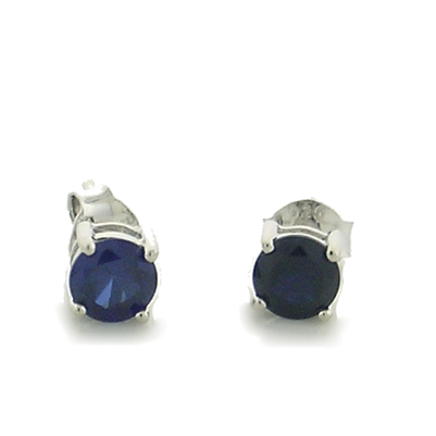 Sapphire CZ Stud Earring wholesale sterling and genuine gems paradisojewelry.com