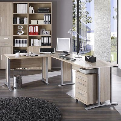 Eckschreibtisch büro  Winkelschreibtisch Office Line Schreibtisch Büro Eckschreibtisch ...