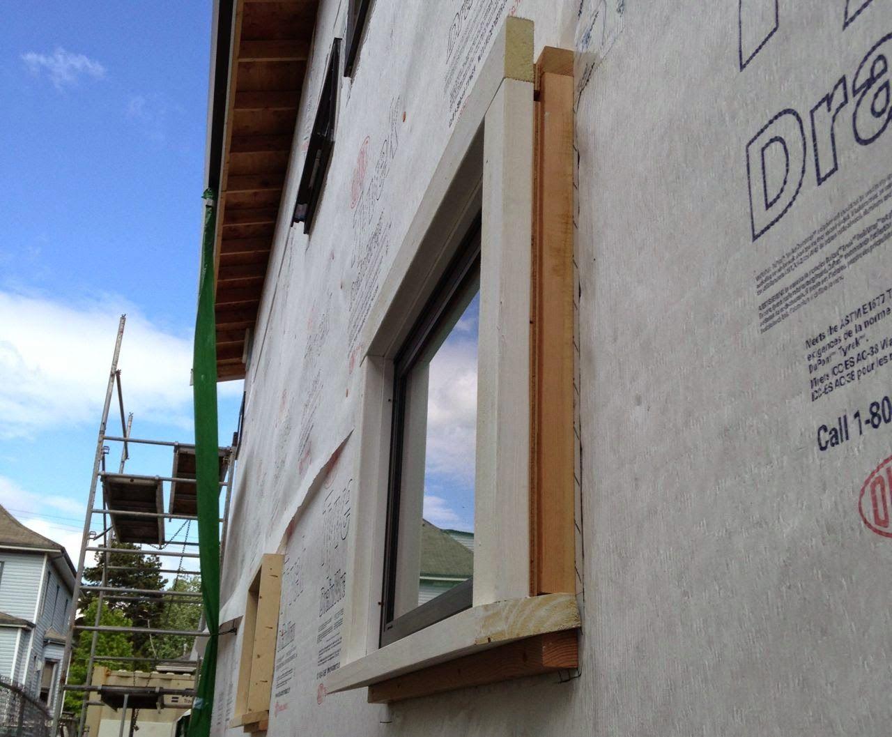 blocking window trim to allow for 1 5 inch rigid foam