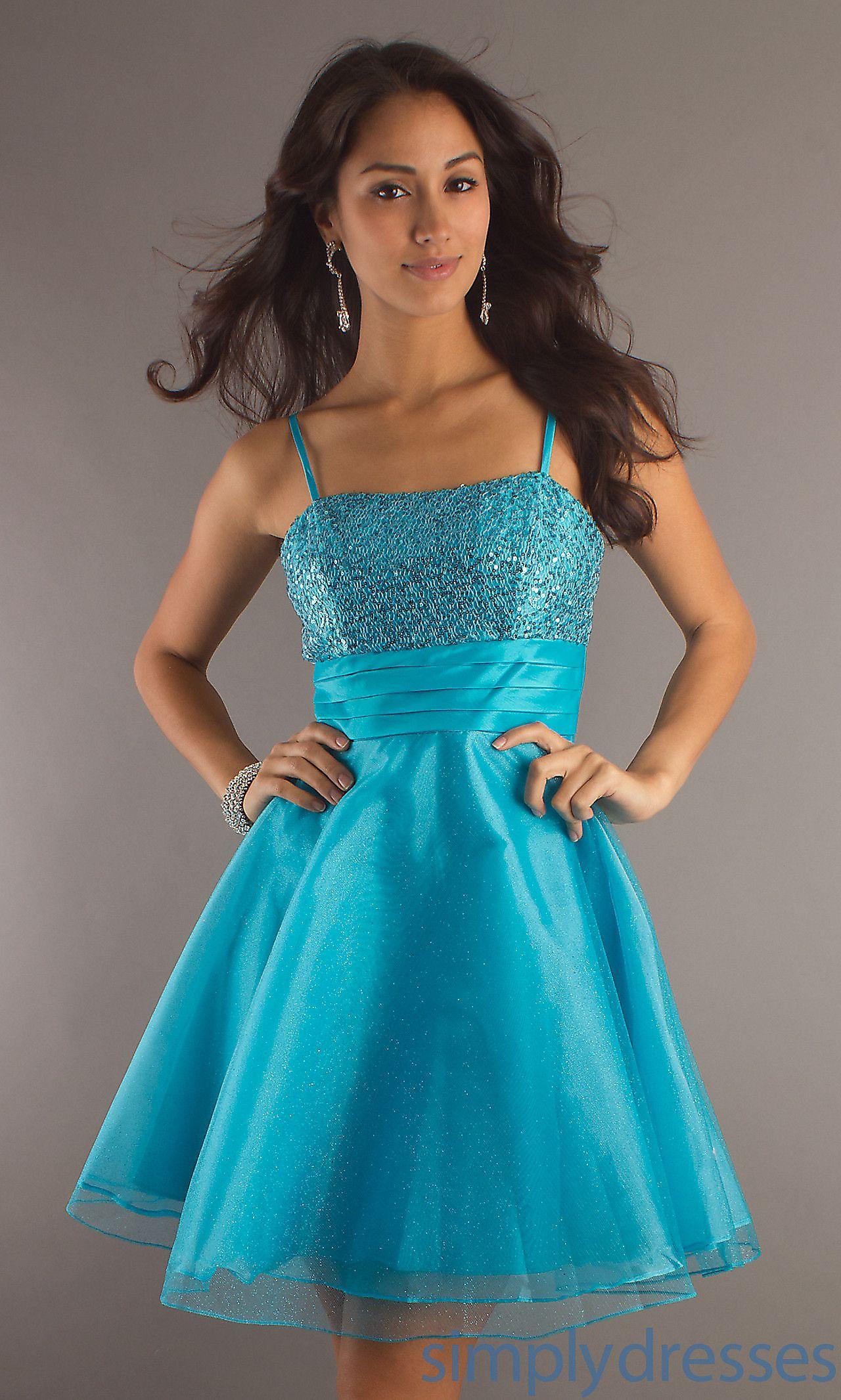 Short Spaghetti Strap Dress DQ-7730f | Party dresses | Pinterest ...