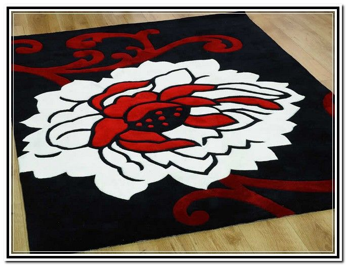 Red And White Area Rugs With Images