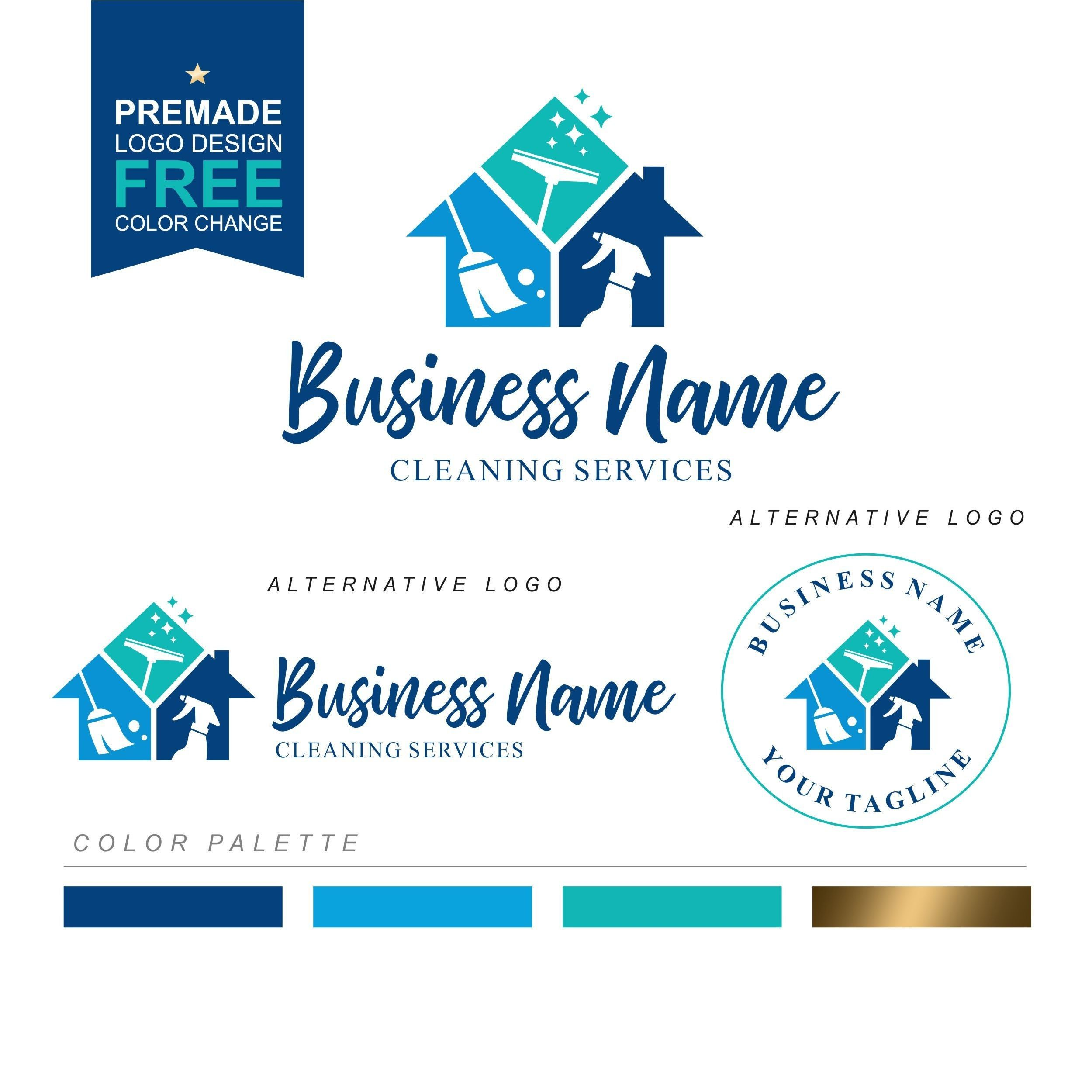 Cleaning Logo House Cleaner Logo Premade Housekeeper Logo Etsy In 2020 Cleaning Logo Cleaners Logo Cleaning Service Logo