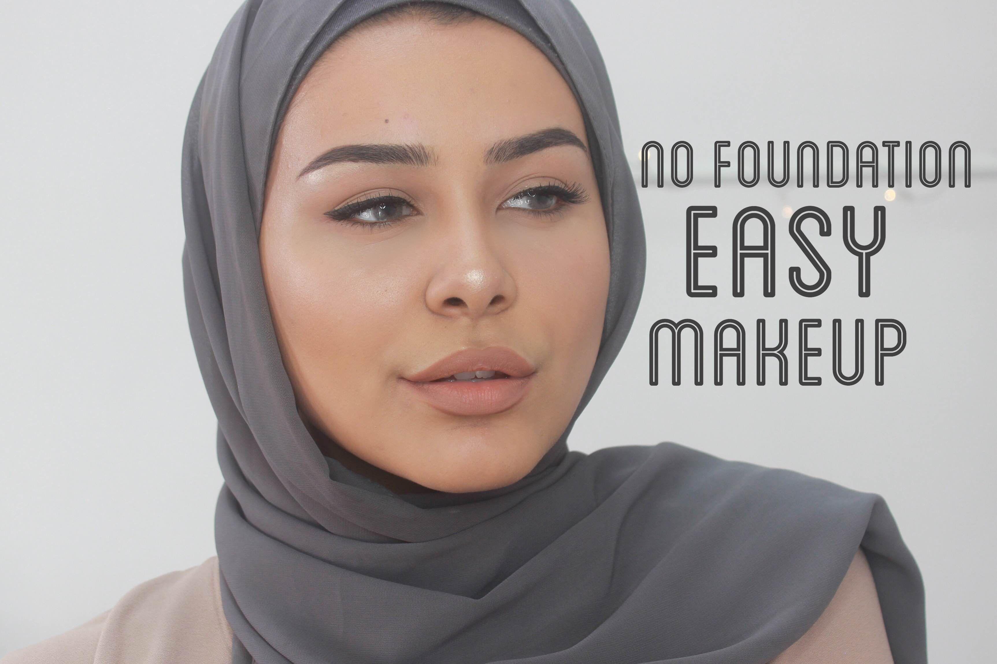 No foundation! Easy makeup look Easy makeup tutorial