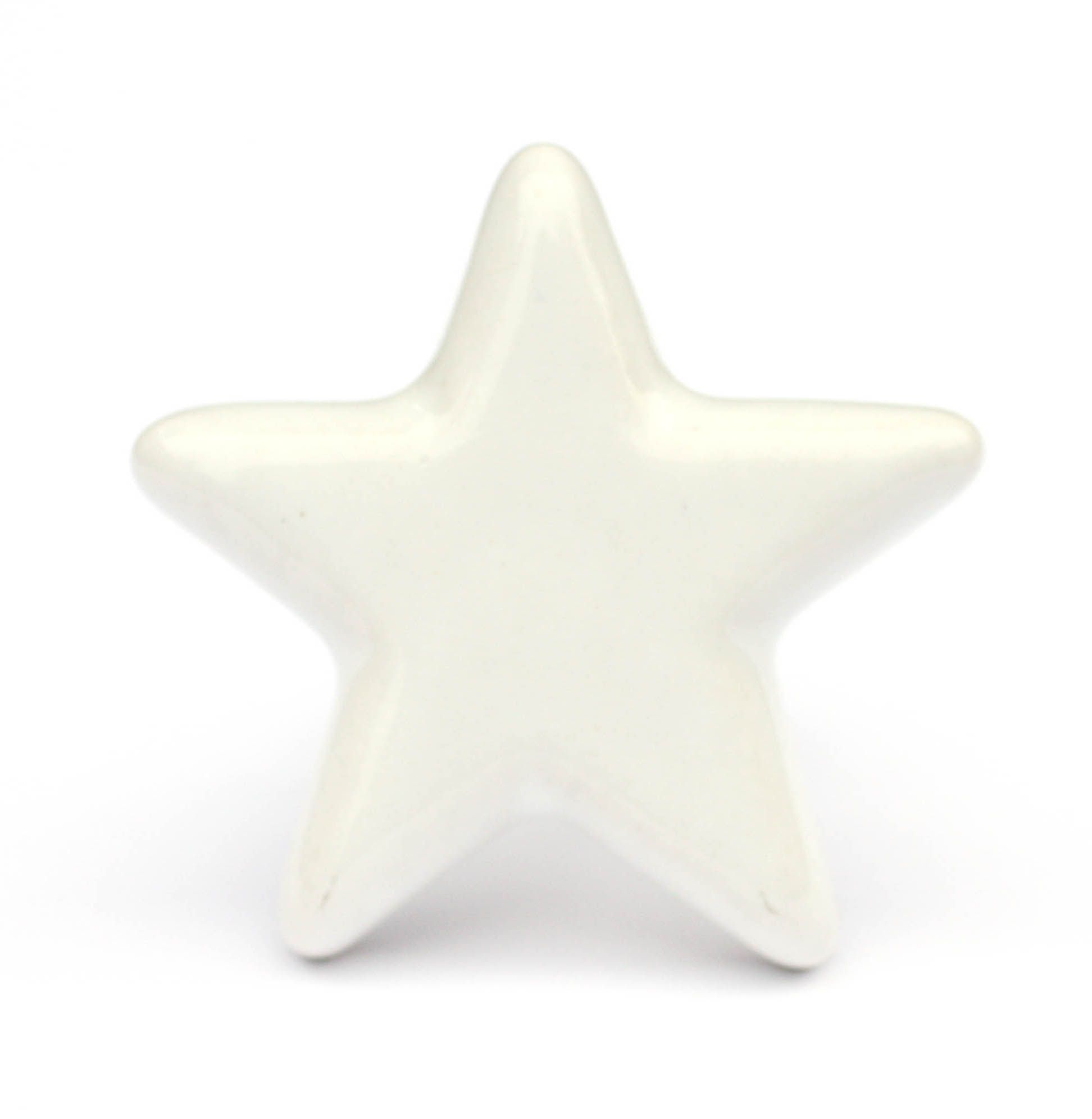 Best M belknopf aus Keramik Stern Wei