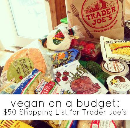 Vegan On A Budget  Trader JoeS List  Shopping Lists Vegans