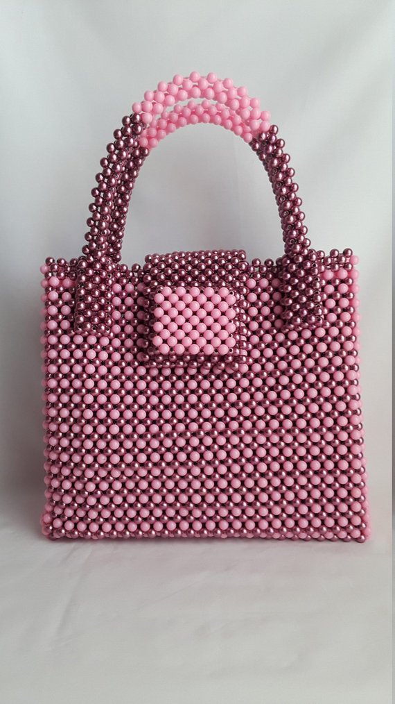 women bead bag a