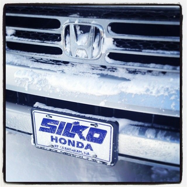 Have no fear the Silko Honda crew was here nice & early to make sure we were open at noon - we're here until 6 for all your sales and service needs #hercules #2014winterstorm #newengland #winter #honda #gosilko