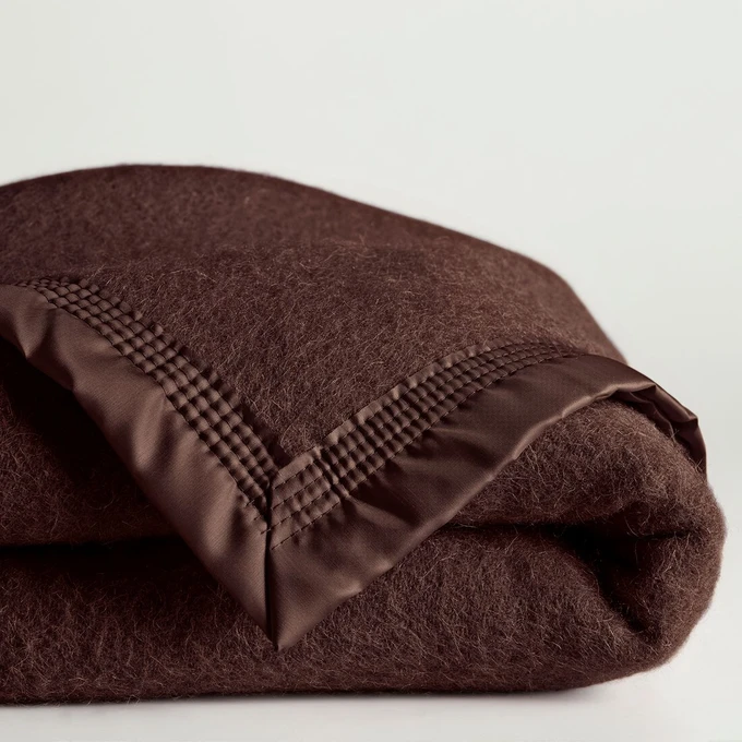 Couverture pure laine vierge Woolmark 350 gr / m²   – Home