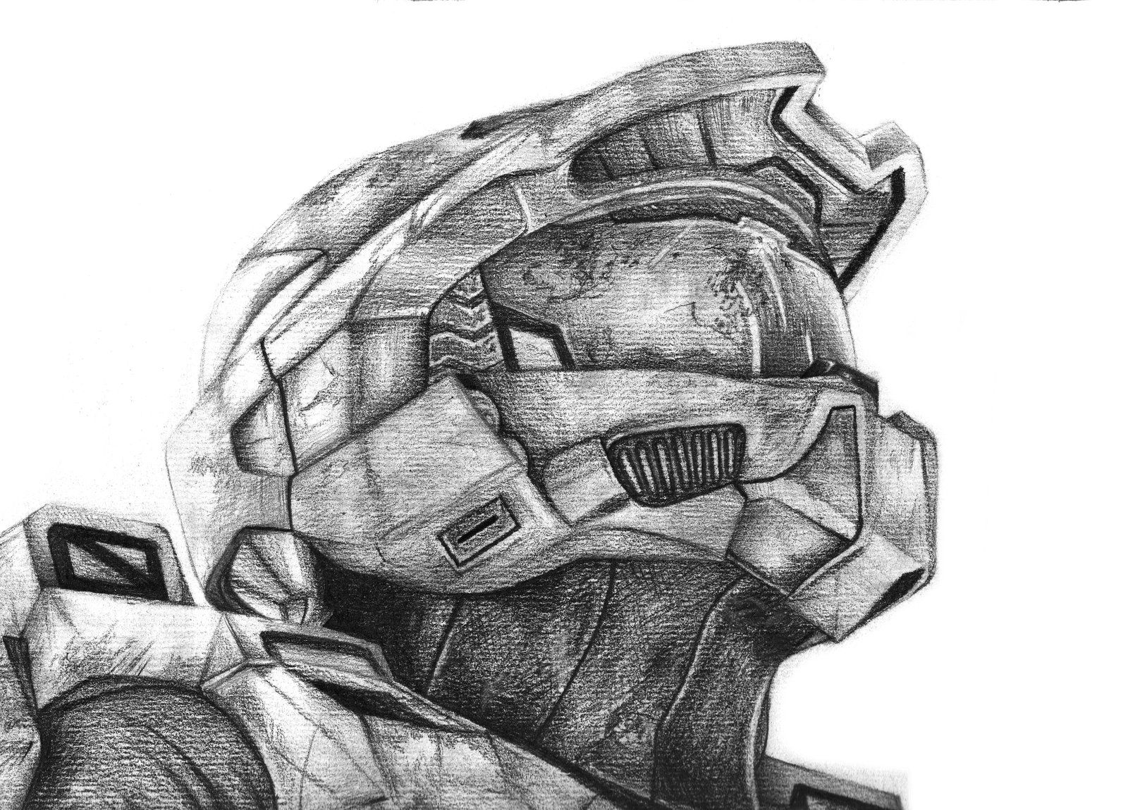 It is a graphic of Handy Halo Helmet Drawing