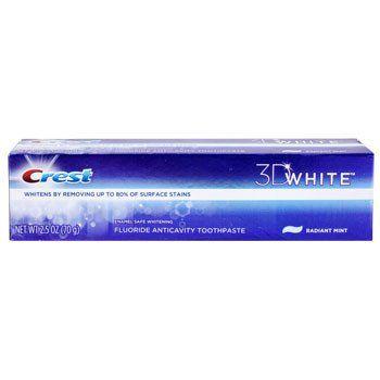 Crest 3D White Radiant Mint Toothpaste, 2.5-oz. Tube