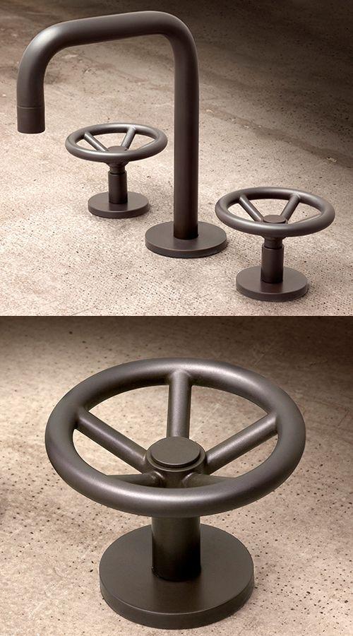 Grifo de ba o estilo retro industrial en bronce mod - Grifos para bano ...