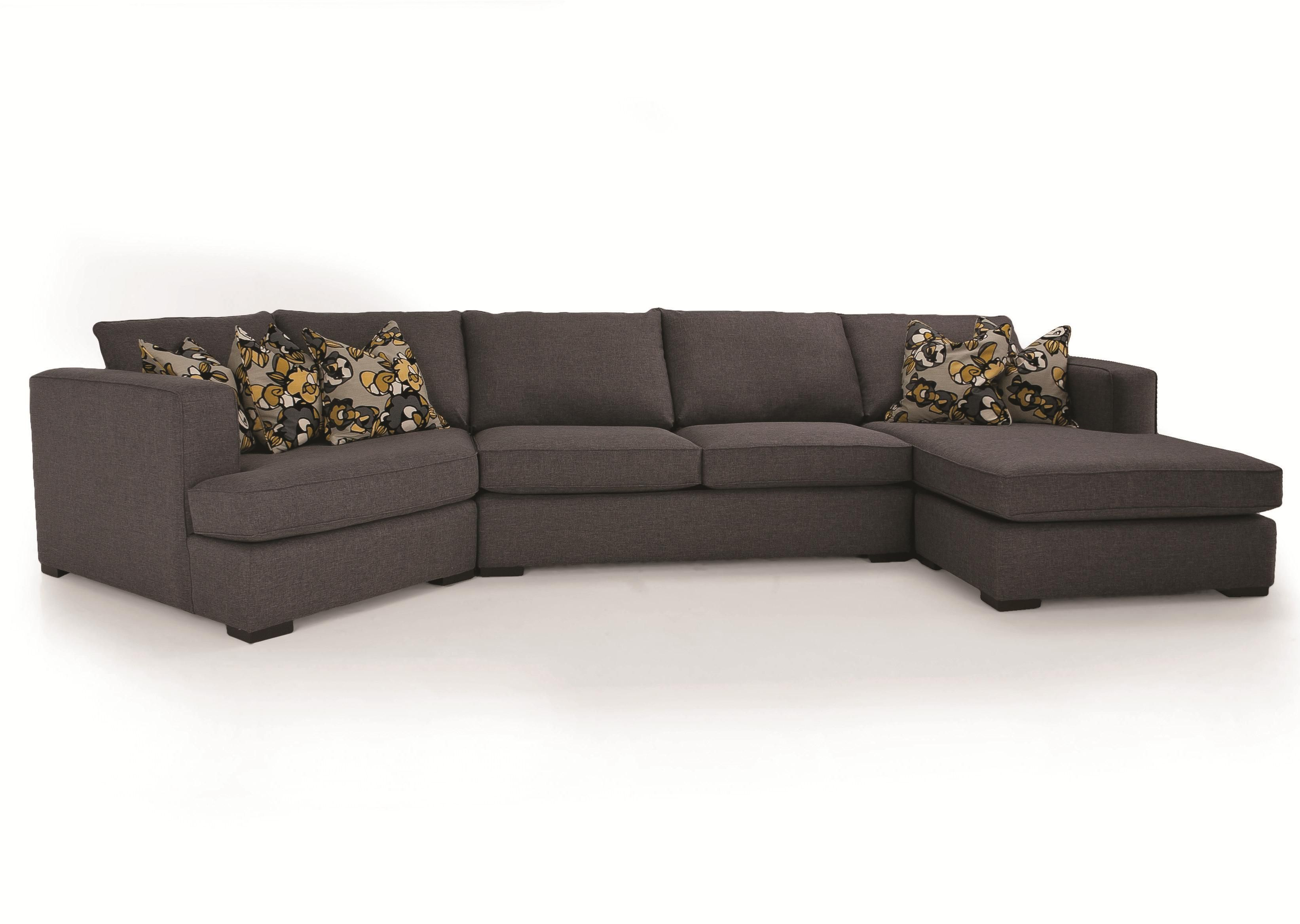 Decor Rest 2900 3 Piece Contemporary Sectional with LHF Cuddler at