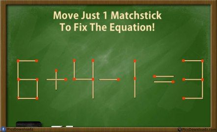 Solve these 5 difficult Matchstick Puzzles Riddles (with answer
