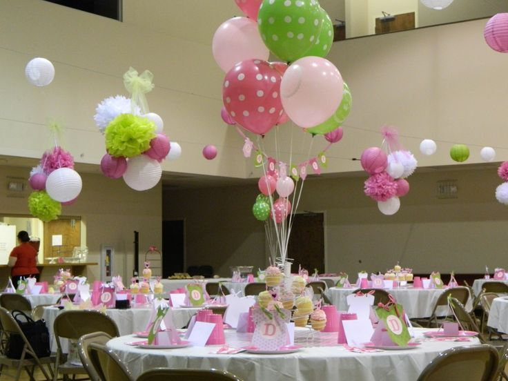 Decoraci n mesas de invitados baby shower ni a pinterest - Decoracion de baby shower nina ...