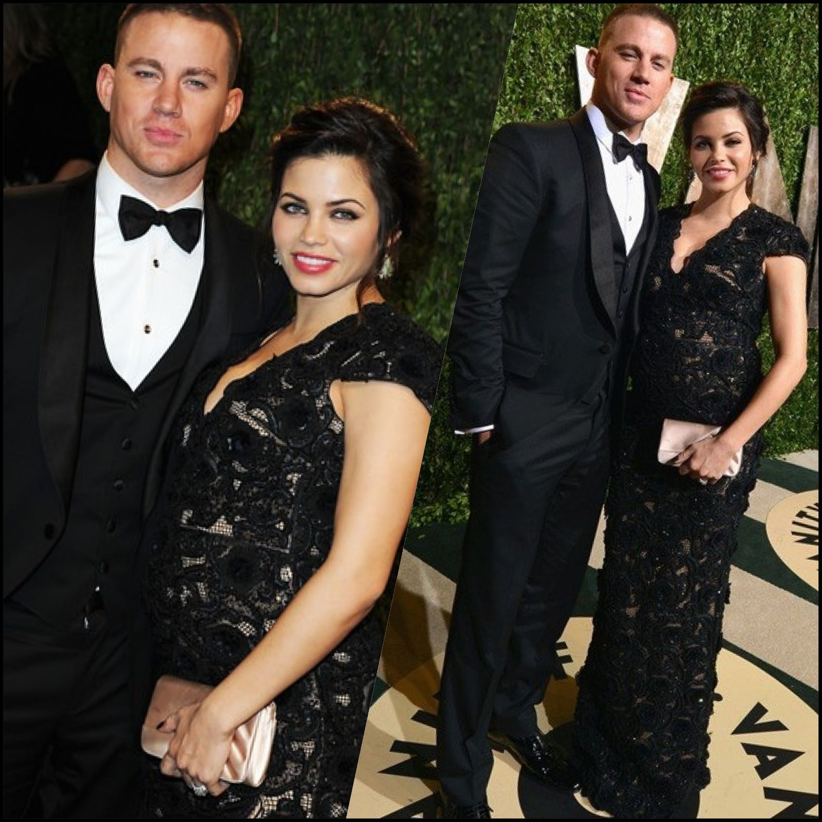 Channing Tatum and Jenna Dewan Tatum at Vanity Fair s Oscars party
