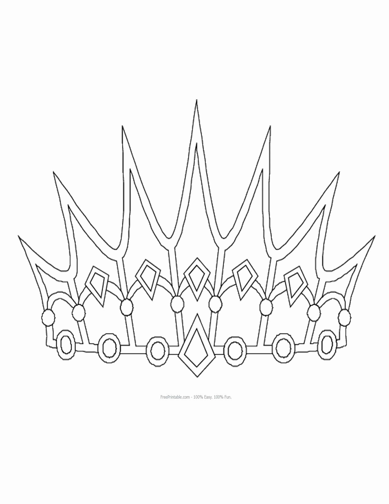 Princess Crown Coloring Pages For Kids Princess Coloring Pages Crown Drawing Easy Drawings
