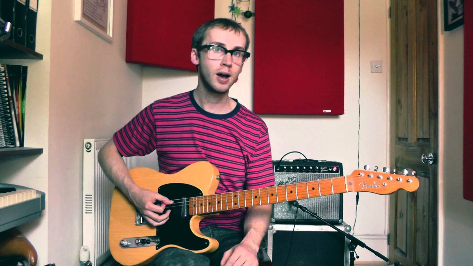 Blues rhythm guitar lesson bass shuffle in e with