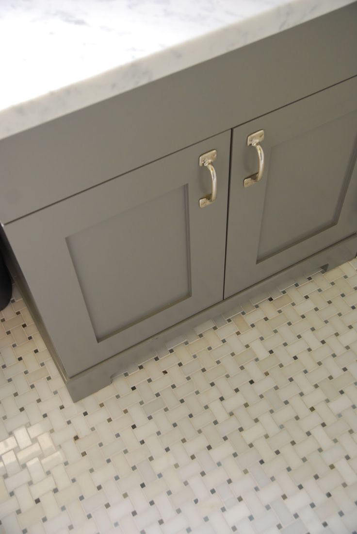 White Floor Bathroom Cabinet Stunning Guest Bath With Gray Bathroom Vanity Paired With Carrara