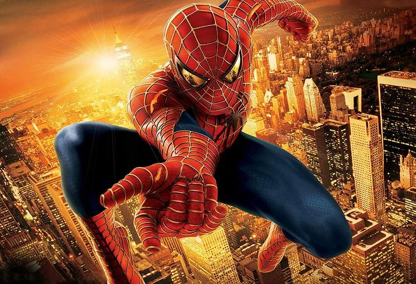 Spiderman Sunset City Superhero Photo Backdrop For Boys Lv 379 Spiderman Superhero Sunset City