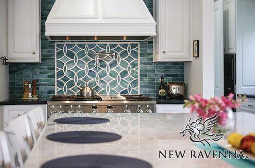 Polly Jewel Glass Mosaic New Ravenna Mosaics Contemporary Kitchen Backsplash Trendy Kitchen Backsplash Kitchen Backsplash Designs