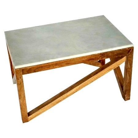 Threshold Wood And Marble Coffee Table Target