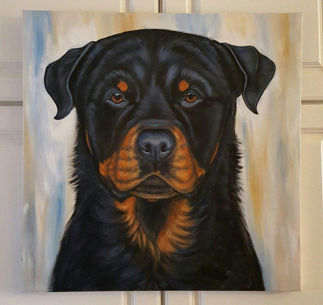 Rottweiler Painting Custom Pet Portrait By Diana Coltenback Pet