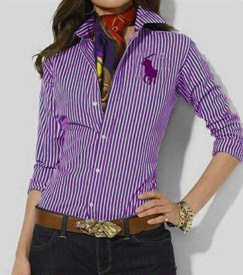 e9629b8c691d Women s Striped Shirt Ralph Lauren Striped purple Shirt
