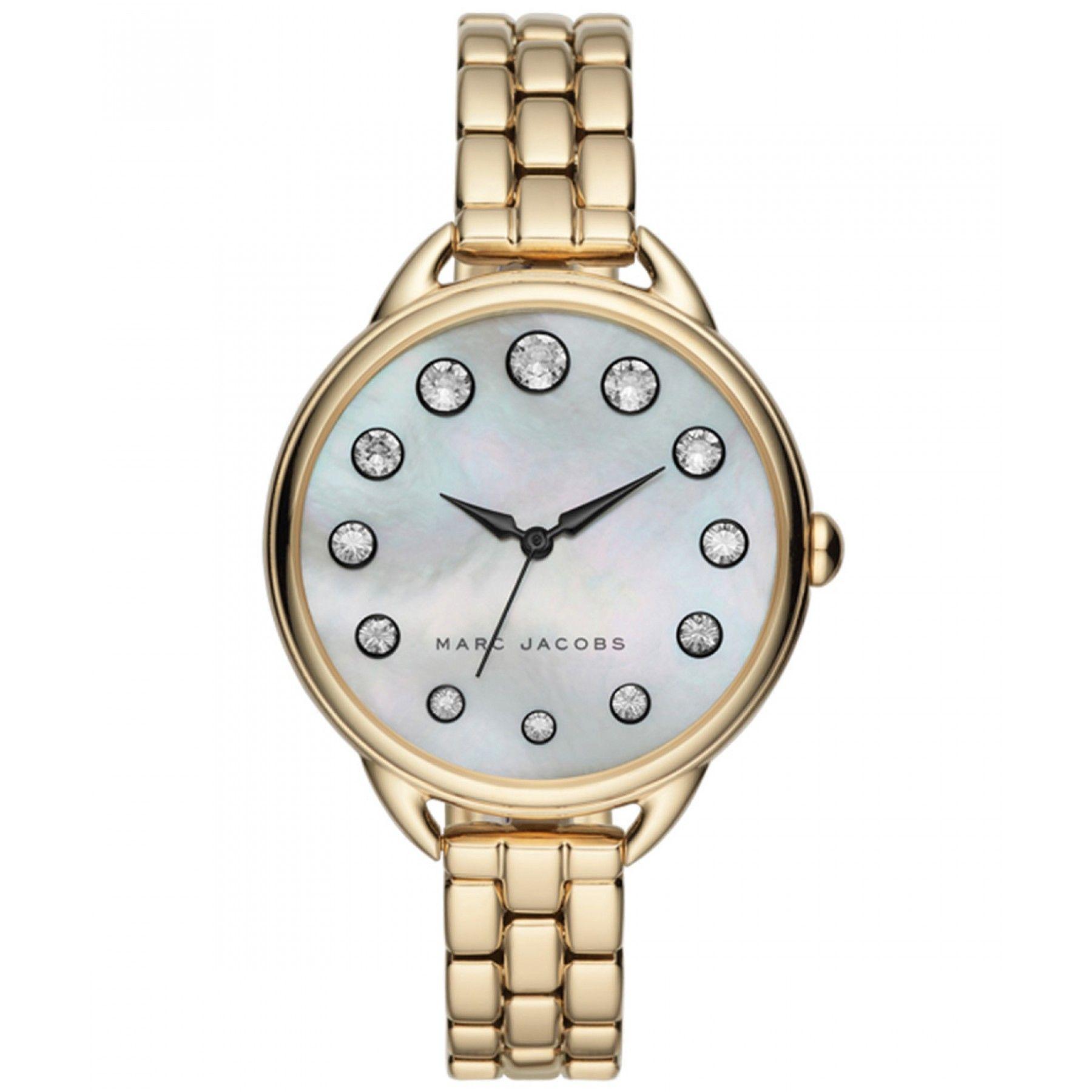 e9ed63a8829a Reloj Marc By Marc Jacobs de caja y bisel en acero color dorado extensible  tipo brazalete