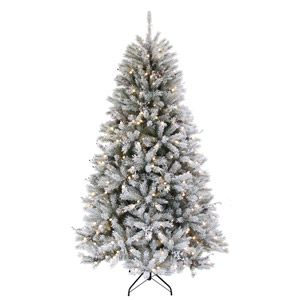 Holiday Time Pre Lit 7 5 Led Knoxville Pine Artificial Christmas Tree Green White Pre Lit Christmas Tree Holiday Christmas Tree