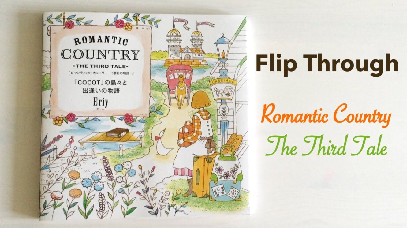 96 Romantic Country Coloring Book Flip Through HD