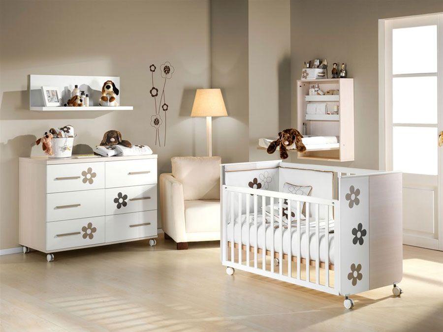 Cuna flores para colch n de 120 60cm muebles de beb cuenta ovejitas muebles para ni os - Prenatal muebles bebe ...
