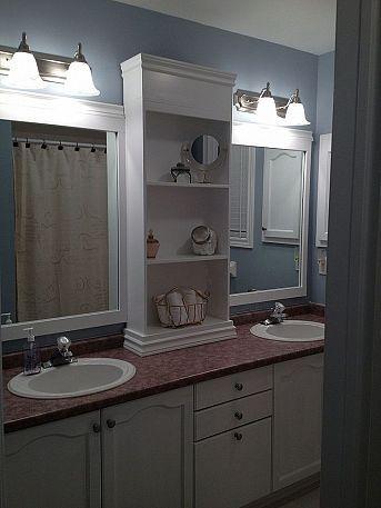 Large Bathroom Mirror Redo To This