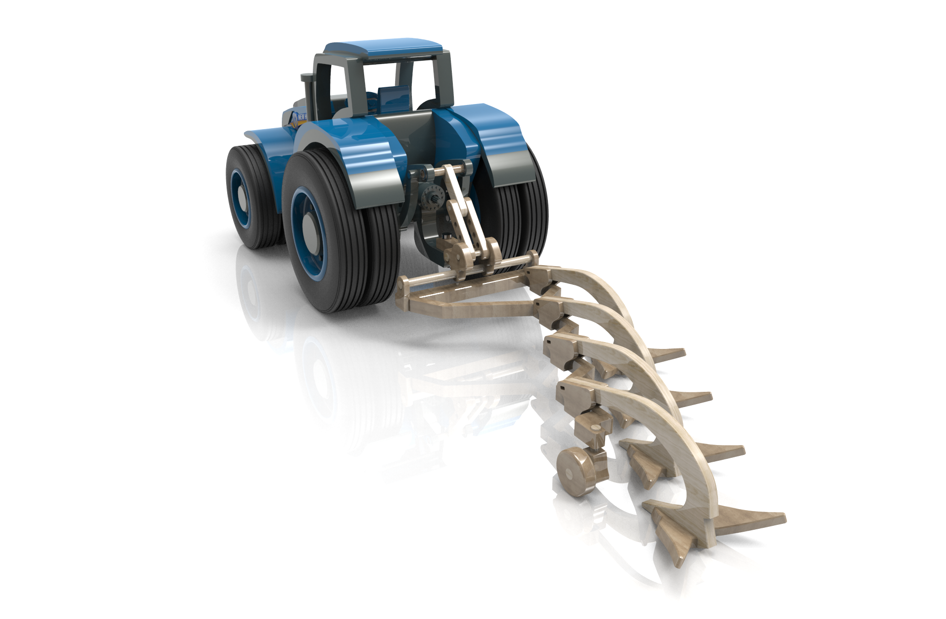 tractor t8 plough | wood toy plans forums | wooden toys