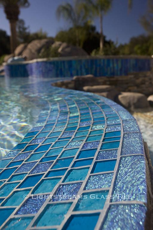 Lightstreams Custom Glass Pool Tile C San Diego