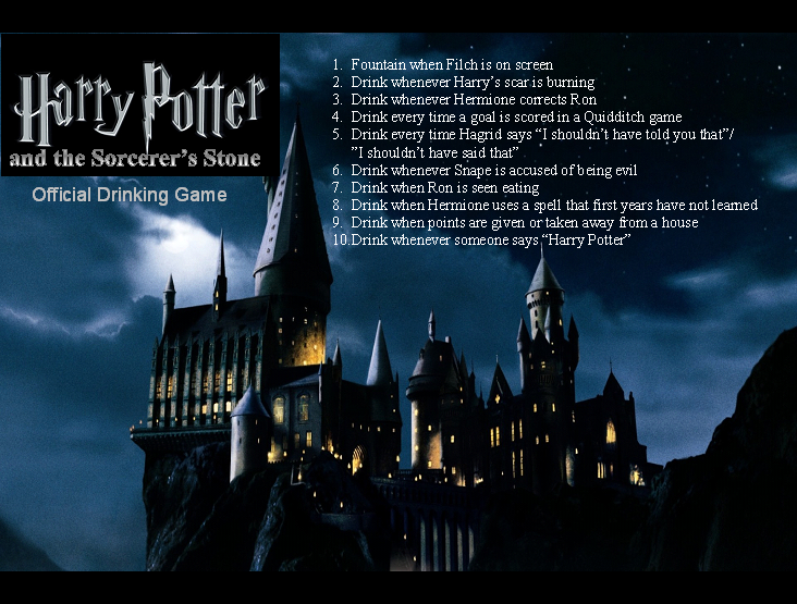 Philosopher S Stone Drinking Game