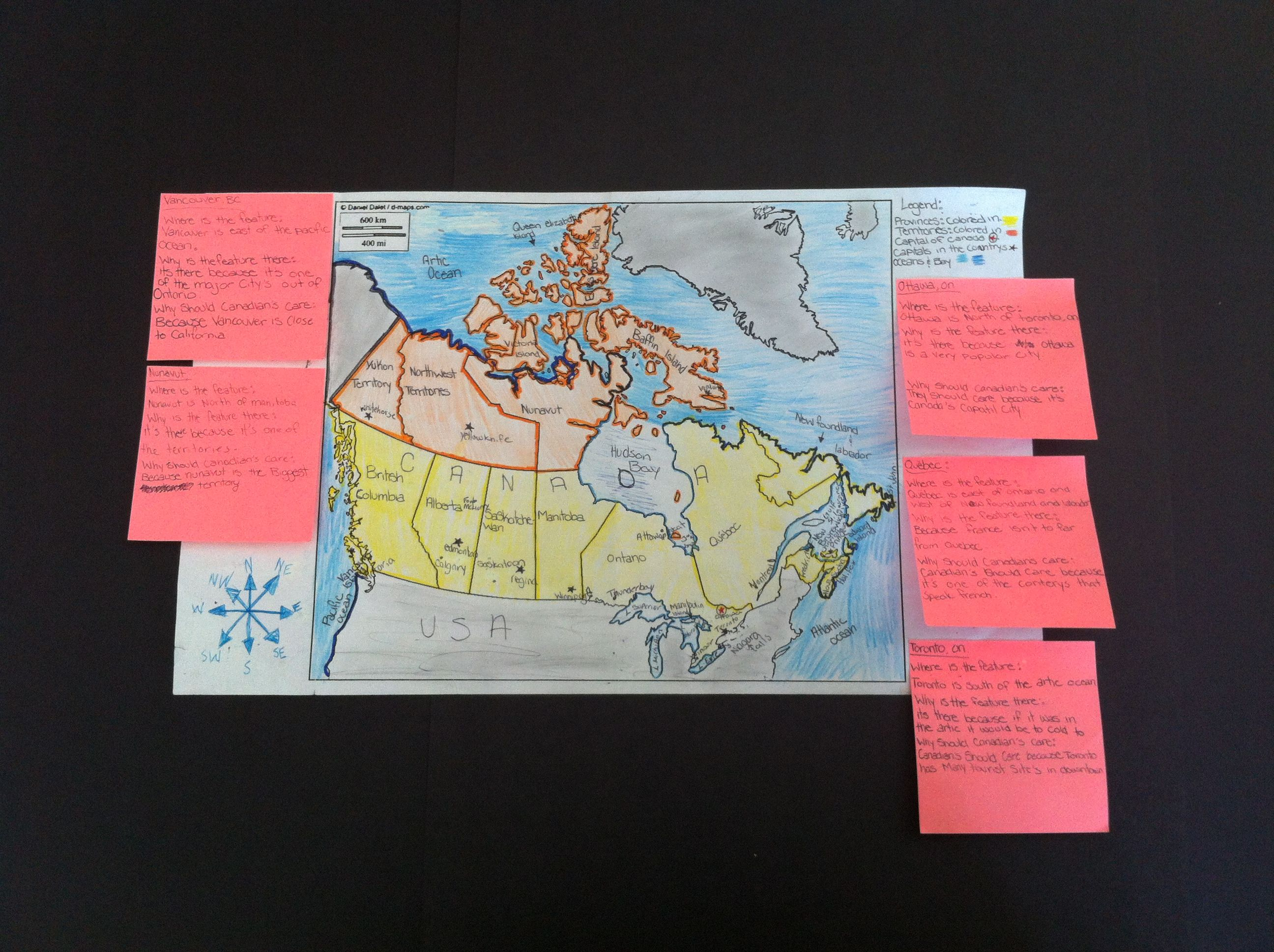 Map Of Canada Assignment