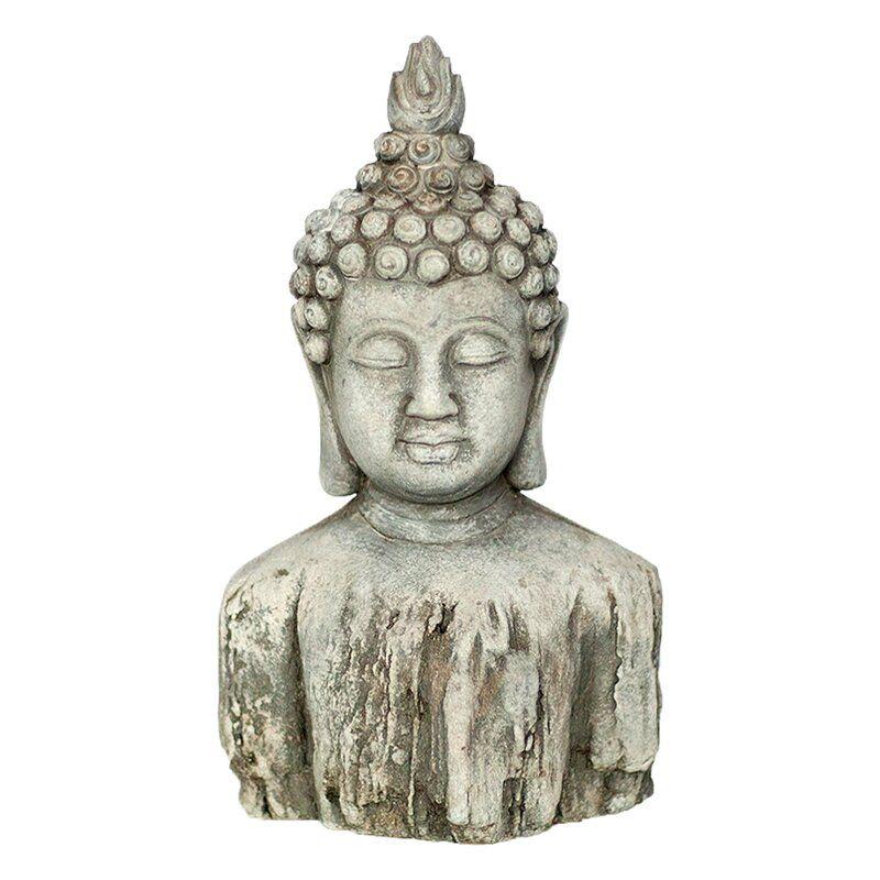 Vanna Buddha Bust Architectural Plants Garden Art Sculptures Buddha