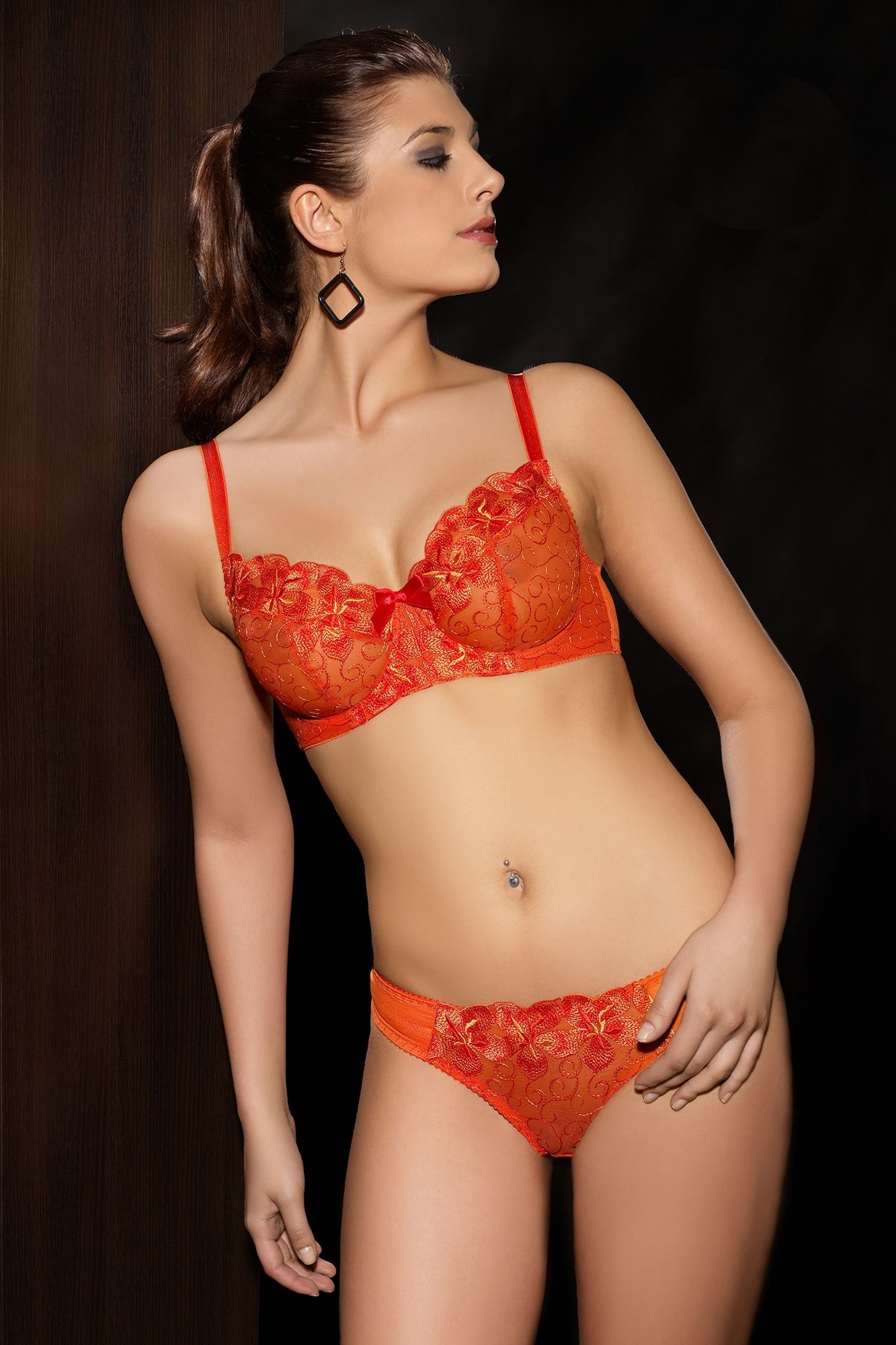 84ea6ae86c Comexim Lingerie Emma Bra and Thong Set in Orange